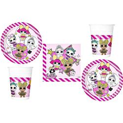 LOL Surprise Einweggeschirr-Set LOL Surprise - Einweg-Party-Set für Kindergeburtstag, 52 Teile