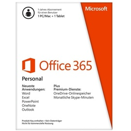 Microsoft Office 365 Personal 3 Geräte PKC EN Win Mac Android iOS