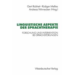 Linguistische Aspekte der Sprachtherapie: eBook von