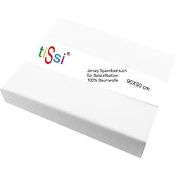 Spannbettlaken Maxi, tiSsi®, für Beistellbetten weiß