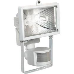 As - Schwabe Außenstrahler mit Bewegungsmelder Halogen 120W R7s Weiß