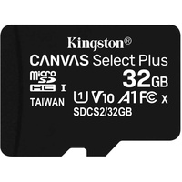 Kingston microSDHC Canvas Select Plus 32GB Class 10 UHS-I A1 V10 + SD-Adapter (3 St.)