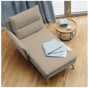 PLACE TO BE. Recamiere, Recamiere Ottomane Chaiselongue Sitzbank Polsterbank Tagesbett Daybed mit Armlehne links natur