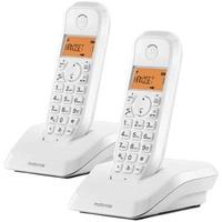 Motorola S1202 Duo Schnurloses Telefon, Weiß