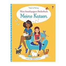 Mein Anziehpuppen-Stickerbuch: Meine Katzen. Lucy Bowman  - Buch