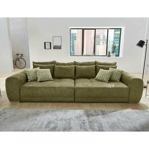 Bigsofa Megasofa Xxl Sofa Moldau Couch Microfaser Olivgrün Federkern Und Kissen