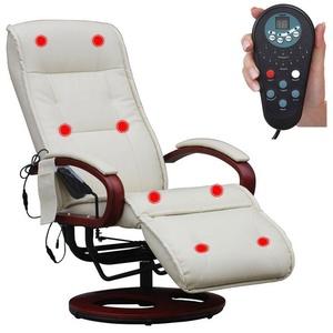 MCW Massagesessel Terni II, 8-Punkt Massage, 9 Massageprogramme, 3 Intensitätsstufen, Rücken und Beine separat ansteuerbar braun
