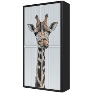 Rollladenschrank Motiv Giraffe, easyOffice, 110x204x41.5 cm