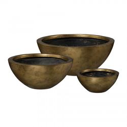 Schale gold klein(DH 30x13 cm)