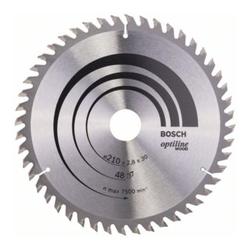 Bosch Kreissägeblatt Optiline Wood für Handkreissägen 210 x 30 x 2,8 mm 48