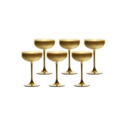 Stölzle Sektglas ELEMENTS Champagnerschale Gold 6er Set (6-tlg)