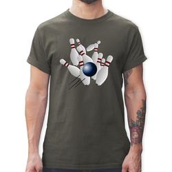 Shirtracer T-Shirt Bowling Strike Pins Ball - Bowling & Kegeln - Herren Premium T-Shirt - T-Shirts bowling pin M