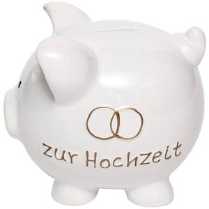 Brillibrum Design Sparschwein Hochzeit Hochzeitsgeschenk Groß Spardose Schwein Gelddose XXL Hochzeitsschwein Sparbüchse (Groß (16 x 16 x 18 cm))