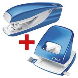 Tacker-Locher-Büroset »5502 & 5008 NeXXt WOW« blau, Leitz