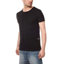 CARISMA Shirttop CARISMA Cut Shirt Herren T-Shirt Schwarz Ripped Slim