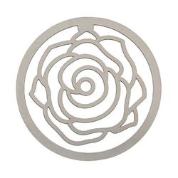 Lesezeichen auf Karte Rose