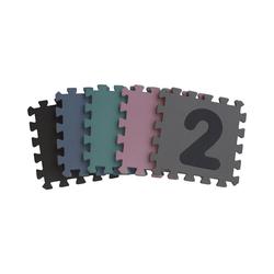 BABY-DAN Puzzlematte Dusty Grey Playmat, 90 x 90 x 1,4 cm, Puzzleteile blau