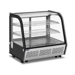 Vitrine Réfrigérée Présentoir Pâtisseries Froid Sur Roulettes 120L LED 2-10°C