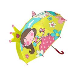 von Lilienfeld Stockregenschirm Kinder Regenschirm 3D Prinzessin mit Krone