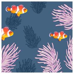 Paper+Design Papierserviette Clownfische, 33 cm x 33 cm