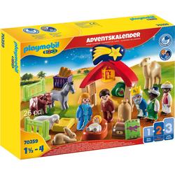 Playmobil® Adventskalender Weihnachtskrippe (70259), Playmobil 1-2-3 (26-tlg)