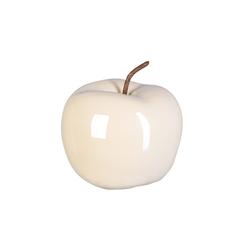 Gasper Deko Apfel Perl Effect in creme, 12 x 9,5 cm