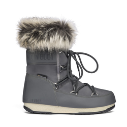 Moon Boots Monaco Low WP 2 - Moon Boot flach - Damen Grey 38 EUR