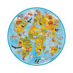 goki Puzzle XXL Puzzle 49 Teile Welt, Puzzleteile
