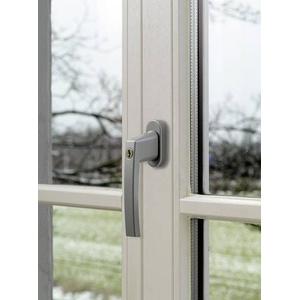 ABUS ABFS59486 Fenstergriff abschließbar Silber