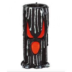 Horror-Shop Kerzenständer Spooky Halloween Kerze mit Geister Gesicht 15cm