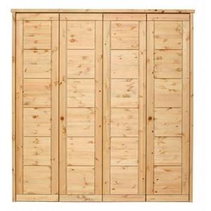 Massivholz Kleiderschrank 4tür Gelaugt Geölt Kiefer Massiv Schlafzimmer Schrank