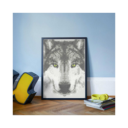 Dot On Malvorlage dot on art - wolf, 50 x 70 cm