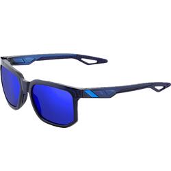 100% Sonnenbrille 100percent Centric Mirror Sonnenbrille stylische Sport-Brille Lauf-Brille mit zylindrischen Gläsern Blau/Schwarz
