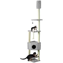 CAT DREAM Kratzbaum-Deckenspanner , B/T/H: 38/38/230-260 cm, grau grau