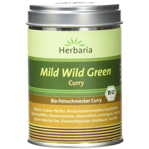 """Herbaria """"Mild Wild Green"""" Curry, 1er Pack (1 x 70 g Dose) - Bio"""