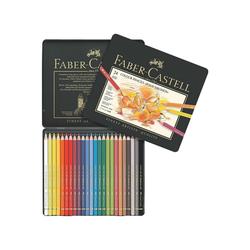 Faber-Castell Buntstift Polychromos, (24-tlg), lichtbeständig, wisch- und wasserfest