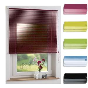 ourdeco® Aluminium-Jalousie / 120 x 160 Fuchsia (Breite x Höhe) / Montage an Wand oder Decke, Premium Alu-Jalousie