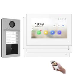 WLAN IP Türsprechanlage für 4-Familienhaus mit RFID und HD Kamera Ohne Kamera