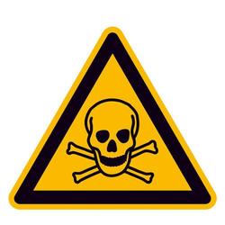 Warnschild Giftige Stoffe Aluminium 200mm ISO 7010 1St.