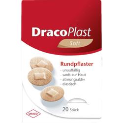 DRACOPLAST Soft Pflaster 2,2 cm rund hautf. 20 St