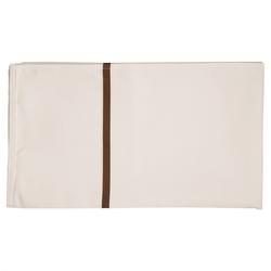 Vermop Wäschesack - weiß mit braunem Streifen