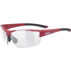uvex Unisex – Erwachsene, sportstyle 612 VL Sportbrille, red mat/smoke, Einheitsgröße