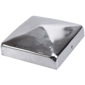BigDean Pfostenkappe Pfostenkappe verzinkt/ Edelstahl Pfahl Pfosten Schutzkappe Schutzhaube 7x7 9x9 10x10 cm (1 Stück) 7 cm