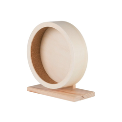 TRIXIE Tier-Beschäftigungsspielzeug Nager Holzlaufrad Kugellager, Holz 10 cm x 24 cm x 22 cm