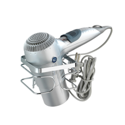 WENKO Premium Haartrocknerhalter, Praktische Föhnhalterung mit integriertem Kabelhalter, Metall/ Edelstahl