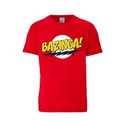 LOGOSHIRT T-Shirt mit coolem Bazinga-Frontdruck Bazinga - The Big Bang Theory rot XS