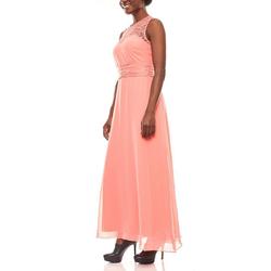 Melrose Abendkleid melrose weich fließendes Damen Spitzen-Abendkleid Party-Kleid Koralle