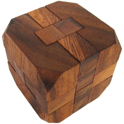 Logoplay Holzspiele Spiel, Diamant G171 - 3D Puzzle - Denkspiel - Knobelspiel - Geduldspiel - Logikspiel aus Holz Holzspielzeug