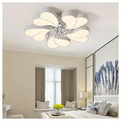 Natsen Deckenleuchte, 45W+3W LED Deckenlampe Kronleuchter Volldimmbar mit Fernbedienung Kristallampe [Energieklasse A++] Ø 65 cm