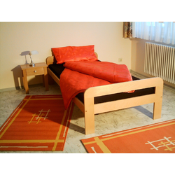 Vaja Möbel Bettgestell Bettgestell Massivholzbett Buche 100 x 200 cm